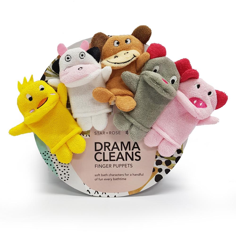 Drama Cleans Finger puppets - Click to enlarge