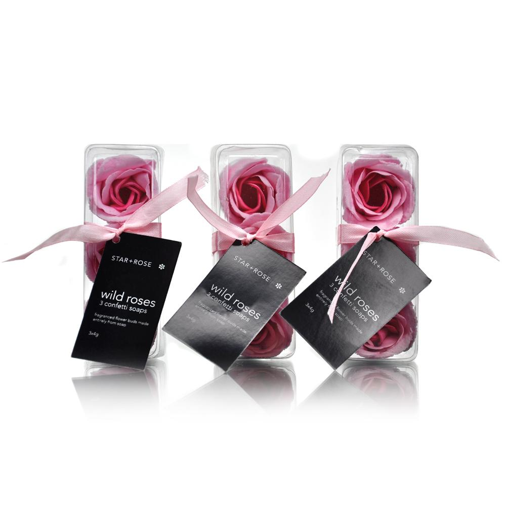 3 Piece Rose Confetti - Pink