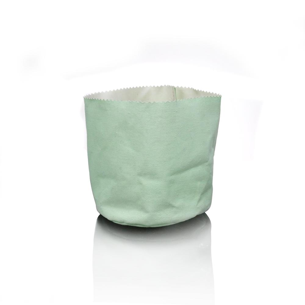 Green waterproofed cotton storage bag - Was $1.80 - Click to enlarge