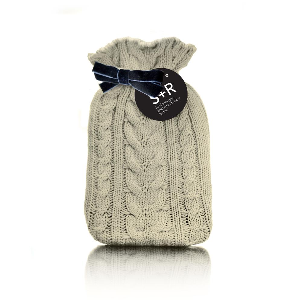 Cream Heirloom Hot Water Bottle with Cover - winter, hot water ...