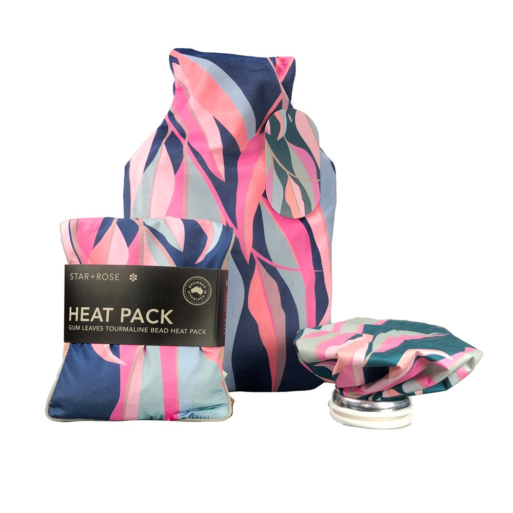 Gum Leaves Hot water Bottle with cover 2L