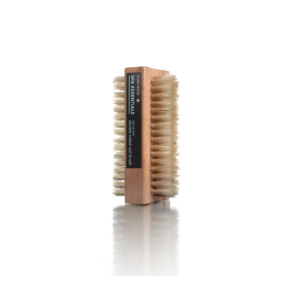 Double sided Natural Bristle Nail Brush - Click to enlarge