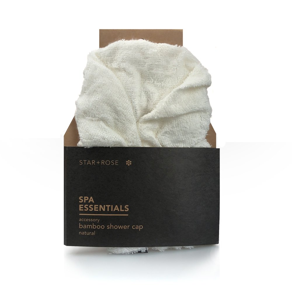 Bamboo Shower Cap - Natural - Click to enlarge