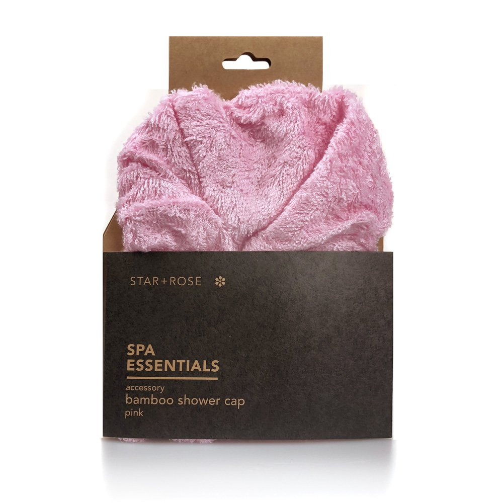 Bamboo Shower Cap - Pink - Click to enlarge