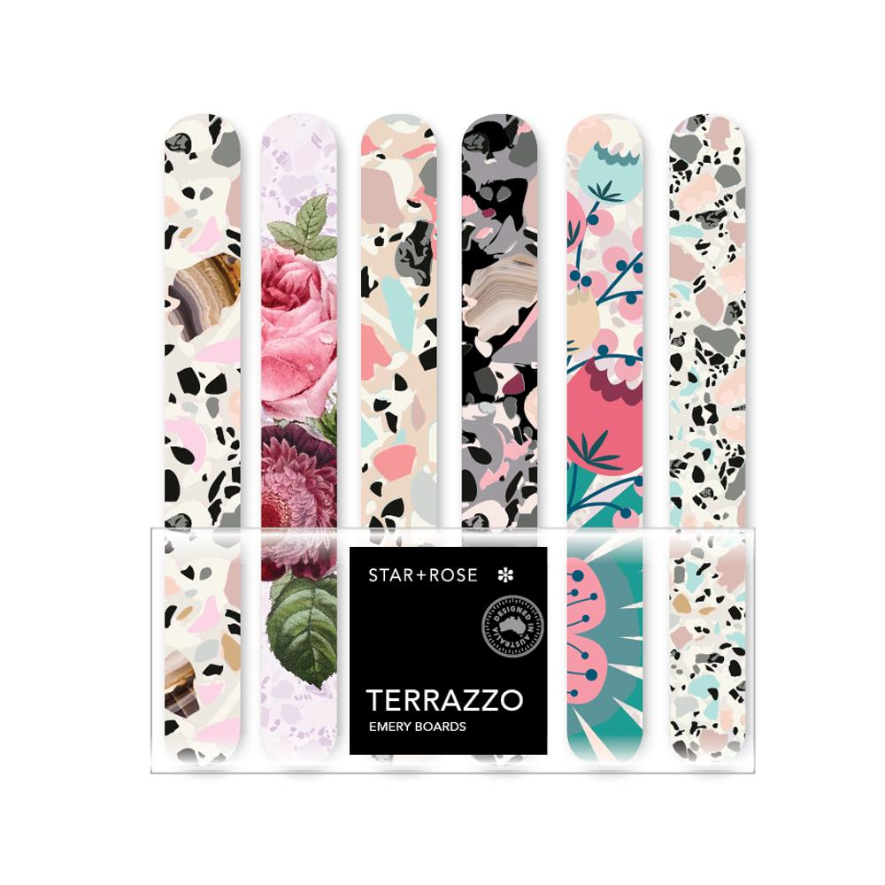 Terrazzo Emery Boards (Display of 48) - Click to enlarge