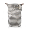 Stripe waterproofed cotton laundry basket Large - Click for more info