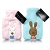 Plush Bunny Hot Water Bottle Blue - Click for more info